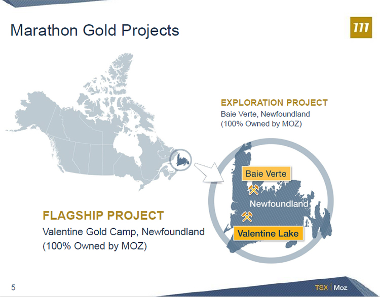 Marathon Gold Corporation (TSX: MOZ) Is Currently Completing Drilling On  The Valentine Lake Project Located In Newfoundland As They Prepare To Begin  A ...